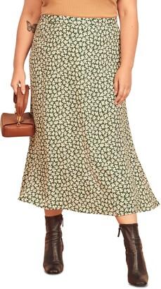 Reformation Bea Floral Midi Skirt