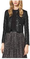 Michael Kors Quilted-Leather Jacket