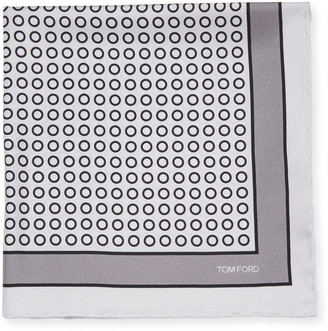 Tom Ford Men's Small Dot Pocket Square