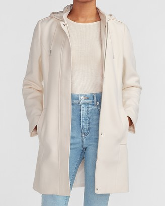 Express Hooded Wool-Blend Coat