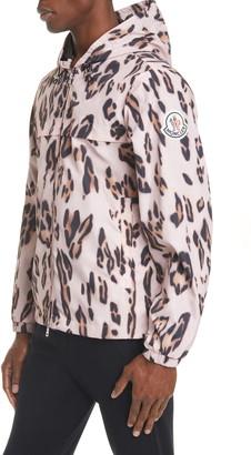 MONCLER GENIUS 2 Moncler 1952 Jau Leopard Print Hooded Nylon Jacket