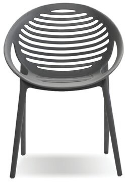 Bronx Mcelfresh Stacking Patio Dining Chair (Set of 4) Ivy Color: Gray