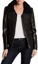 Doma Genuine Dyed Lamb Shearling Lined Collar Genuine Lamb Nappa Leather Jacket