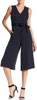 Donna Ricco Striped Crop Leg Jumpsuit