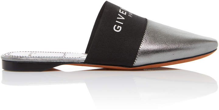 Givenchy Bedford Metallic Leather Mules