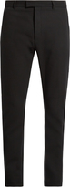 Balmain Slim-fit satin-striped cotton tuxedo trousers