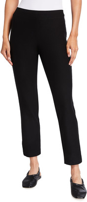 Eileen Fisher Washable Stretch-Crepe Slim Ankle Pants