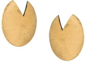 Monies Jewellery painted disk earrings