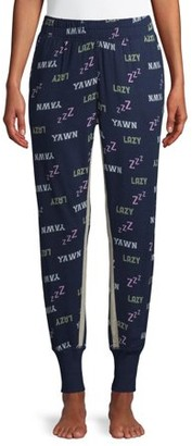 Secret Treasures Women's and Women's Plus Lazy Mood Print Pajama Joggers