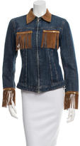 Dolce & Gabbana Suede-Trimmed Denim Jacket