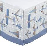 DwellStudio Canvas Crib Skirt- Flight Sky by Dwell Studio