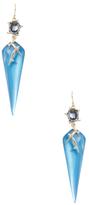 Alexis Bittar Lucite Satellite Crystal Spike Drop Earrings