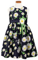 Sorbet Toddler Girl's Floral Print Sleeveless Dress