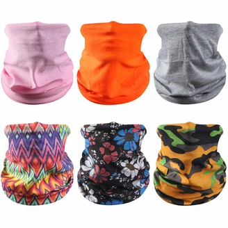 Sunew Fishing Face Mask Winter Face Sun Mask Scarf Bandanas Neck Gaiter Face Cover UV Protection Balaclava Face Mask for Halloween Cosplay Motorcycle Fishing Versatile Headwear Cap for Dust 6 Pieces