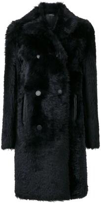 Joseph Fur Trim Coat
