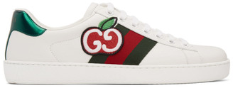 Gucci White GG Apple Ace Sneakers