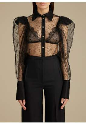 KHAITE The Bell Top In Black Sparkle