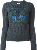 Kenzo 'Tiger' cable knit jumper - women - Cotton/Wool - XS