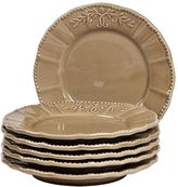 Gallery Le Provence 6-pc. Taupe Salad Plate Set