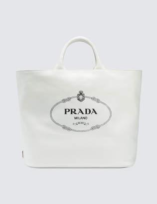 Prada Oversized Canvas Tote Bag