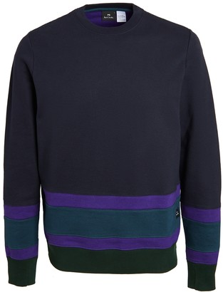 Paul Smith Colorblocked Crew Neck Sweatshirt