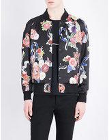 Saint Laurent Floral And Snake-print Satin Jacket