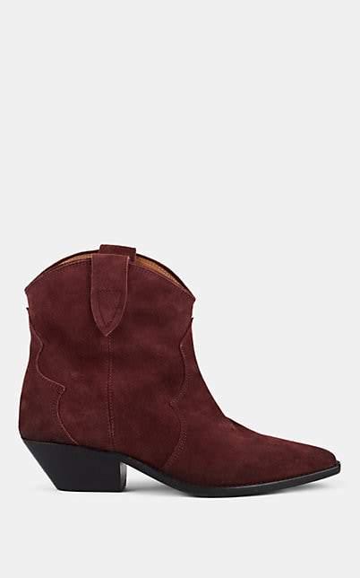 Isabel Marant Women's Dewina Suede Ankle Boots - Aubergine