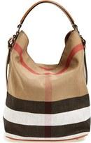 Burberry 'Medium Susanna' Check Print Bucket Bag