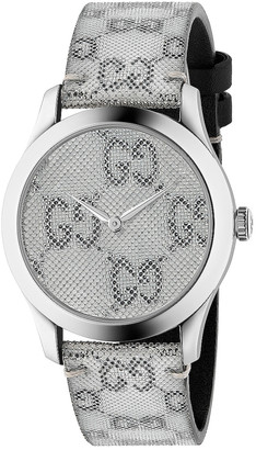 Gucci 38MM G-Timeless Holographic Watch in White & Black | FWRD