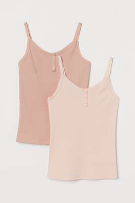 H&M 2-Pack Ribbed Jersey Tops