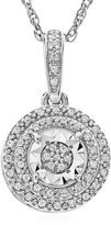 FINE JEWELRY Limited Time Special 1/10 CT. T.W. White Diamond Sterling Silver Pendant Necklace