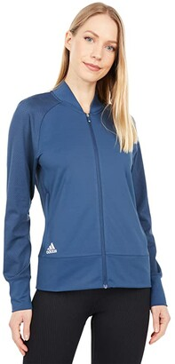 adidas Full Zip Recycled Polyester Jacket (Navy) Women's Clothing