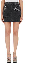 Marc Jacobs Women's Embellished Denim Miniskirt-BLACK