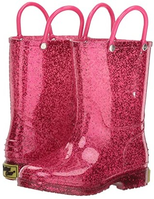 Western Chief Glitter Rain Boots (Toddler/Little Kid) (Pink) Girls Shoes