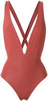 Haight - v-neck swimsuit - women - Polyamide/Spandex/Elastane - P