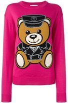 Moschino biker teddy bear jumper - women - Virgin Wool - XXS
