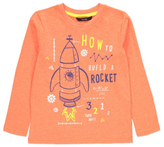 George Neon Rocket Print Long Sleeve Top
