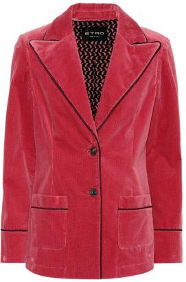 Etro Corduroy stretch cotton blazer