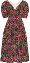 Marni V-neck floral print midi dress