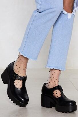 Nasty Gal Womens Head T-the-Bar Cleated Shoe - Black - 3