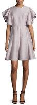 Co Ruffle-Sleeve A-Line Dress, Mauve