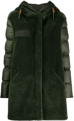 Mr & Mrs Italy Contrast Hooded Down Coat