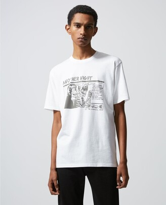 The Kooples Printed white T-shirt with skull motif