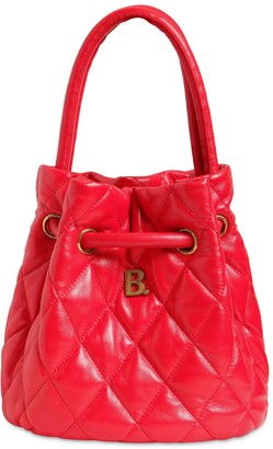 Balenciaga B Quilted Leather Bucket Bag