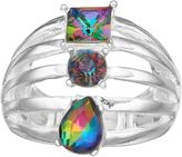 JLO by Jennifer Lopez Geometric Multi Row Stretch Ring