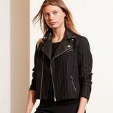 Ralph Lauren Pinstriped Wool Moto Jacket