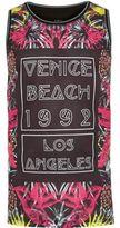 River Island Boys black Venice Beach print tank
