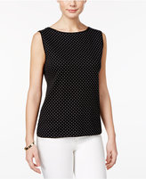 Karen Scott Dot-Print Tank Top, Only at Macy's