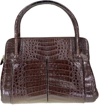 Nancy Gonzalez Brown Crocodile Handbags