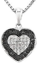 FINE JEWELRY 1/3 CT. T.W. White and Color-Enhanced Black Diamond Heart Pendant Necklace